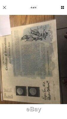 Rare Atocha shipwreck 1590 2 Reales Silver Cob 18k Gold Mel Fisher