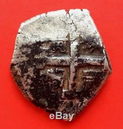 ¡¡ Rare! Silver Cob 8 Reales Of Philip V. Lima. Year 1737. Assayer N