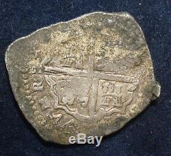 Rare Spain Philip III 1619-21 Silver Cob 4 Reales (09) Toledo Mint 13.7 Grams