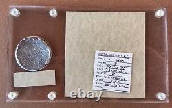 ¡¡ Rare! Spanish Silver Cob 8 Reales Potosi R Atocha Treasure 1622 Grade I Coa