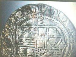 Rare Undergraded Silver Cob! 1504 Toledo Mint Spain Isabella & Ferdinand II