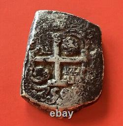 Rarespanish Silver Cob 8 Reales Ferdinand VI 1750 Potosi Mint Assayers E/q