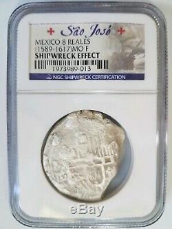 SAO JOSE Mexico 8 Reales Silver Shipwreck NGC Pieces of Eight Real COB Treasure