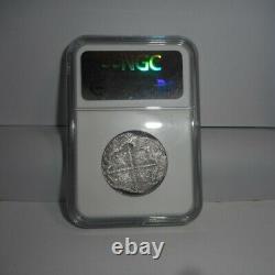 SAO JOSE SHIPWRECK Silver Cob Coin SPAIN 4 Reales 1615-20 S V NGC Certified RARE
