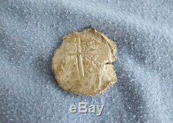 SILVER COB 8 REALES 1600s Shipwreck / Treasure Coin 19.9g