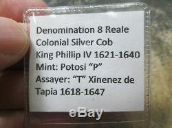 SPAIN 1618-1647 colonial cob Silver 8 Reales. Coin HIGH GRADE
