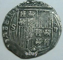 SPAIN 2 REAL COB 1400s SEVILLA CATHOLIC KINGS FERDINAND &ISABEL SPANISH COLONIAL