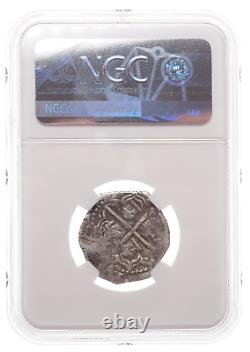 SPAIN. Philip III, 1598-1621, Silver Cob 2 Reales, NGC VF30