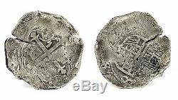 Santa Margarita 8 Reales Mexico Assayer D Grade 1 Silver Cob Coin 25.36 GRAMS