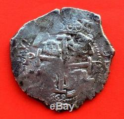 ¡¡ Scarce! Silver Cob 8 Reales Carlos Ii. 1669. Potosi Mint. E