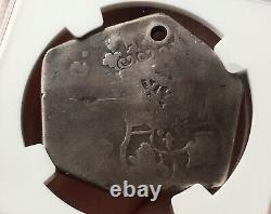 Scarce Silver Cob 8 Reales Ferdinand VI 1753 Guatemala Mint. Countermark Ngc