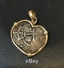 Shipwreck coin 1696 Spanish Lima Silver 1 Reales Old Pirate Treasure Cob Coin