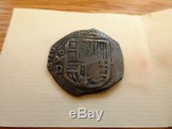 Silver 4 Reales Cob C 1628 Coa Lucayan Beach Shipwreck Pirate Cased Spink Spain