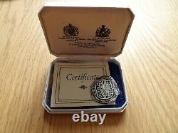 Silver 4 Reales Cob From Lucayan Beach Spink Pirate Treasure 1628 Cased With Coa