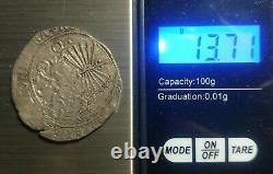 Spain 1474-1504 4 Reales Silver COB Pirate Treasure Coin Ferdinand & Isabella