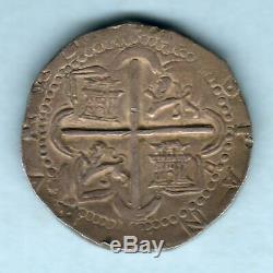 Spain. (1556-98) Cob 8 Reales. Seville Mint, Assayer D. 18.92 grams. GVF
