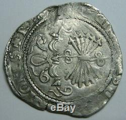 Spain 2 Real Cob Sevilla Catholic Kings Ferdinand & Isabel Spanish Colonial
