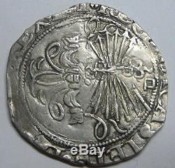 Spain 2 Real Cob Sevilla Catholic Kings Ferdinand & Isabel Spanish Silver