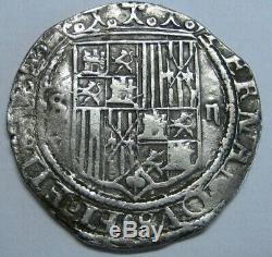 Spain 2 Real Cob Sevilla Catholic Kings Ferdinand & Isabel Spanish Silver Cob