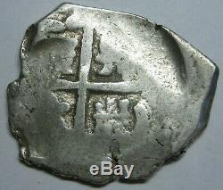 Spain 4 Real Cob Atocha Era Spain Peninsular Mint Spanish Colonial Silver