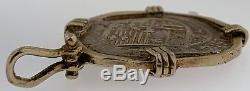 Spain 4 Reales 1614 Full Date Pirate Silver Coin Treasure Doubloon Cob Pendant
