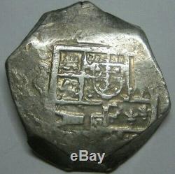 Spain 8 Real Cob Atocha Era Spanish Dollar Colonial Era Genuine Cob
