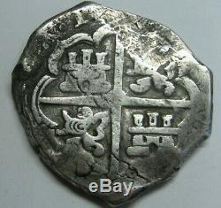 Spain 8 Real Cob Atocha Era Treasure Fleet Spanish Dollar Colonial Sevilla
