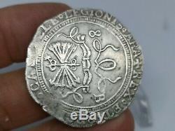 Spain 8 Real Cob Sevilla Catholic Kings Isabel & Ferdinand Scarce Silver