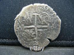 Spain 8 Reales 1600-1622 Silver Shipwreck Treasure Coin 26.2 Grams 36 MM Cob