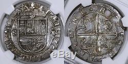 Spain, Felipe II, cob 8 Reales, ND (1556-1598). ME# 3949. NGC XF45. Splendid