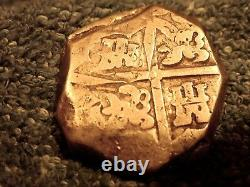 Spain Rare Silver 4 Reales Cob Double Struck On Reverse