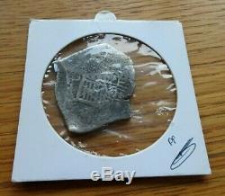 Spain Silver 8 Reales Cob Recovered From Merestein Shipwreck South Africa 1702