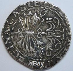 Spanish Colonial 4 Real Cob Sevilla Mint Catholic Kings Isabel & Ferdinand Rare