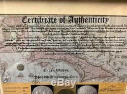 Spanish Colonial 8 Reales Cob from 1807 Shipwreck Framed with COA