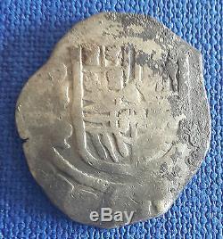 Spanish Colonial Silver Cob 8 Reales 27,26 grams