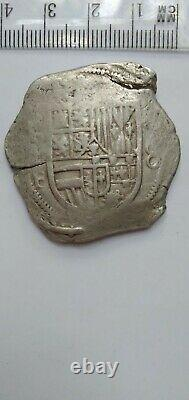 Spanish Mexico Silver 8 Reales OMF 1600s Pirate Cob Coin # 4-13