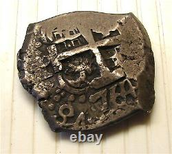 Spanish Silver 8 Real Cob-Dated 1764-Weight 27.4 Grams