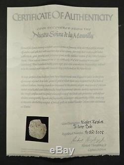 Spanish Silver 8 Reales Cob Maravillas Shipwreck /w COA Certificate #91.8R. 5078