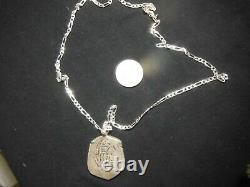 Spanish Silver Treasure Cob 8 Reales c1700, 37g with 24 Inch silver. 925 Chain
