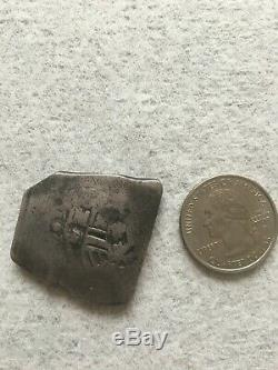 Spanish Treasure Coin Lot. 2 Cobs (1 Very Fine), 2 Slabbed 8 Reals