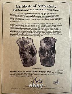 Treasure Of The HMS FEVERSHAM 1711 RARE. 8 REALES COB