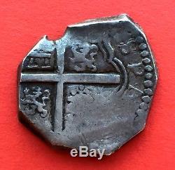 ¡¡VERY RARE! COB 2 REALES PHILIP IV. SANTA FE NUEVO REINO. (Colombia) 1632-1642