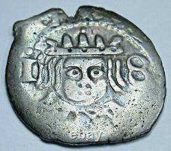 Valencia 1652 Spanish Silver 1 Reales Antique 1600's Colonial Cob Pirate Coin
