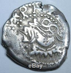 Valencia Spanish 1649 Double Struck Silver 1 Reales Piece of 8 Real Old Cob Coin