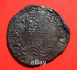 ¡¡ Very Rare! Royal Cob 8 Reales. Philip V. Year 1715. Potosi Mint. Y