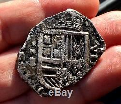 ¡¡ Very Rare! Silver Cob 8 Reales Philip Iv. Cartagena De Indias (1628) Rne