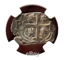 ¡¡ Very Rare! Silver Cob Imitation. 2 Reales. Honduras, Tegucigalpa. 1824