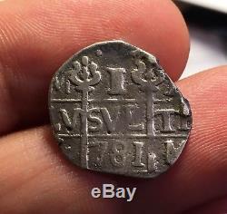 ¡¡ Very Rare! Silver Cob Real Caracas (venezuela) Date 781