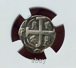 Very Raresilver Cob 1 Real Tegucigalpa (honduras) Year 1824. Ngc Vf25